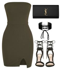 """I'm in love with the Shape of you."" by bria-myell ❤ liked on Polyvore featuring ALDO, Miss Selfridge and Yves Saint Laurent"
