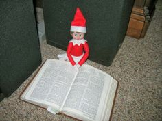 CONTROLLING Craziness: Elf on the Shelf Day 17:  Reading the Scriptures Sunday