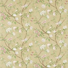 Nostell Priory Wallpaper 311418 Old Gold/Green