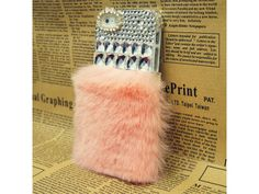Crystal #Fluffy iPhone 5/5S Case (#Pink)