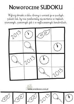 noworoczne sudoku Diagram, Math Equations, Speech Language Therapy