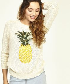 Cream Pineapple Sweater