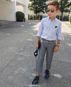 Shirt+Western-style trousers#fashion#Cool#boys
