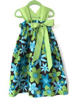 Handmade Floral sundress toddler summer dress by BeastiesBabies