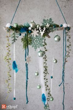 Your marketplace to buy and sell handmade. Yule Crafts, Craft Projects For Adults, Christmas Window Decorations, Diy Crafts To Do, Selling Handmade Items, Winter Home Decor, Beaded Garland, Boho Diy, Holiday Wreaths