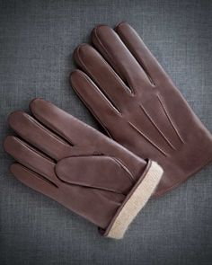 Fratelli Orsini Mens Italian Cashmere Lined Suede Formal//Dress Leather Gloves