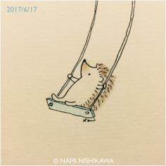 1210 ブランコ sitting on a swing