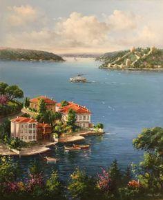 katre_i NUR – . Scenery Paintings, Seascape Paintings, Oil Painting Abstract, Oil Painting Pictures, Pictures To Paint, Landscape Art, Landscape Paintings, Turkish Art, Painting Wallpaper