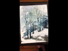 "Watercolor and sumi ink on 22""x30"" watercolor paper Timelapse video Music by Steven Cravis http://www.StevenCravis.com Find more paintings at http://www.storibe.etsy.com To view the complete painting: To purchase this painting: https://www.etsy.com/listing/124644478/new-england-landcape-no211-22x30"