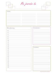 organisation journée Plus Organization Bullet Journal, Journal Organization, Office Organization, Diy Back To School, Life Planner, Agenda Planner, Note Paper, Filofax, Journal Inspiration