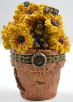 boyds bears   Boyds Bears Potter B. Bloombeary With Nibbles - Resin Treasure Box ...