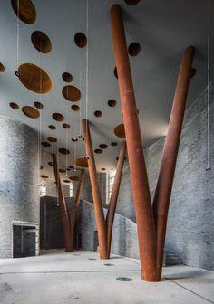 Yanqing Grape Expo by Studio Archea Associates Contemporary Architecture, Amazing Architecture, Architecture Details, Interior Architecture, Residential Architecture, Interior Design, Steel Columns, Steel Beams, Architectural Columns
