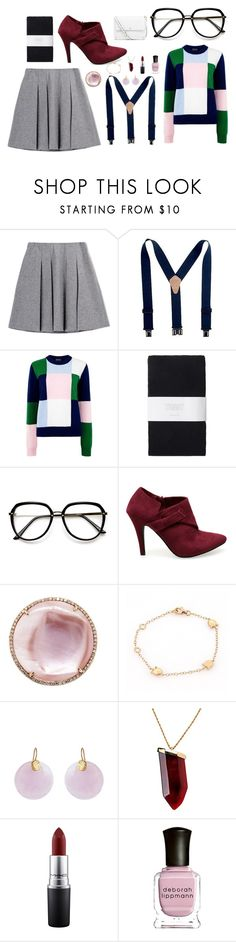 """""""Untitled #16"""" by dare2bebeautiful ❤ liked on Polyvore featuring Fall Winter Spring Summer, Markus Lupfer, Toast, Cartier, Kastur Jewels, Kenneth Jay Lane, MAC Cosmetics, Deborah Lippmann and Tory Burch"""