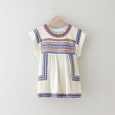 isabel marant dumas embroidery top