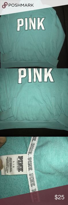 PINK ---MINT GREEN HALF ZIP PINK---MINT GREEN HALF ZIP IN GREAT CONDITION PINK Victoria's Secret Tops Sweatshirts & Hoodies