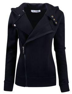 doublju slim fit zip up hoodie jacket