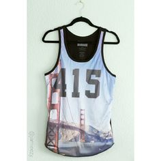"Classy Brand | NWT ""415 SF"" Mesh Tank Mesh front tank with SF 415 Golden Gate Bridge graphic and non mesh black cotton back. Jesey style tank. Super cool street style piece. 50% cotton, 50% polyester. Size Small, loose fit. Only tried on. Brand new with tag. PRICE IS FIRM. No trades. Bundle for discount. Classy Brand Tops Tank Tops"