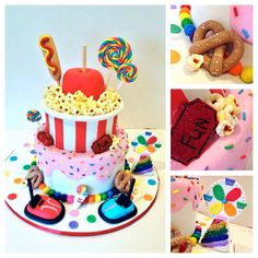 Fair carnival cake