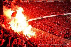 Fire in the stadium