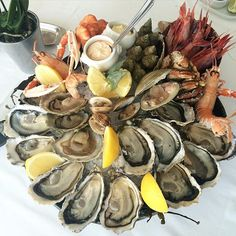 #PortHercule Seafood platters - Le Rocher - Perle de Monte-Carlo (Oysters), Brown crab, Langoustines, Prawns, Shells, Clams, Bulots by jo_pras from #Montecarlo #Monaco