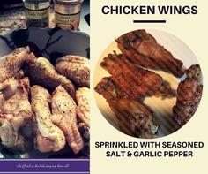 Chicken Wings!  Super easy to prep with just 2 seasonings sprinkled on, but kids love! #sunsetgourmet #savouryde
