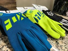 NEW FOX GEAR!  The all new gear from @foxracing Just arrived in our stores! We've got helmets jerseys gloves knee pads and more! Check out these gloves!  #BicycleWarehouse #Bike #Bikes #Cycling #mtb #Freedom #Fitness #Fun #Ride #RoadCycling #TrailRiding #GiantBicycles #RideLifeRideGiant #roadbike #shimano #mountainbiking #sram #sprint #freeride #enduromtb #mtbpictureoftheday #livetoride #bikestagram #speed #cyclist #endurance #passions #bikeforlife #lovebike