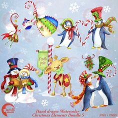 80%OFF Christmas clipart watercolor holiday by AMBillustrations
