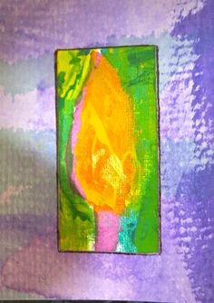 paint art on ATCs by kat gottke on 8 .2.2015
