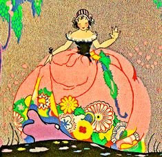 :: Sweet Illustrated Storytime ::  Illustration of vintage flower lady