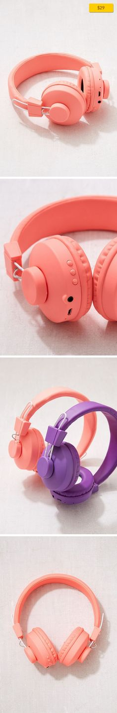 UO Wireless Bluetooth Headphone Music + Tech, Audio, Headphones + Earbuds   Don't get attached - use UO's Bluetooth-compatible over-the-ear headphones for an easier commute, work out + everyday life! Headphones come in all our favorite colors with a padded interior and adjustable fit so they're comfy AF. Streams music and phone calls wirelessly. Charging cable included. Features - Bluetooth 4.0 - ...