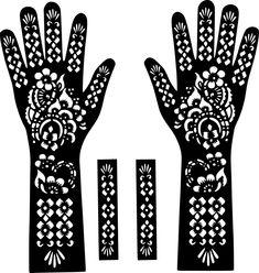 Henna Hands Temporary Tattoo Body Art Sticker Stencil