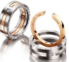 Rings 5 - The Jewelry Piece That Tells You Directions http://coolpile.com/style-magazine/rings-5-the-jewelry-piece-that-tells-you-directions/ via CoolPile.com  Accessories, Diamonds, Gifts For Her, Gifts For Him, Gold, Jewelry, Rings, Swiss, Titanium