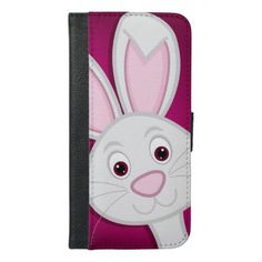 Hiding Easter Bunny iPhone 6/6s Plus Wallet Case - animal gift ideas animals and pets diy customize