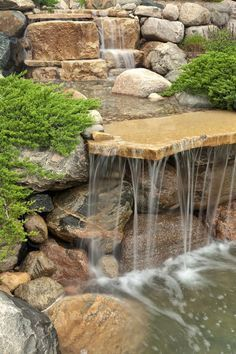 It's not difficult to create a waterfall pond feature rather than the conventional pond. With this small waterfall pond landscaping ideas you will inspired to make your own small waterfall on your home backyard.