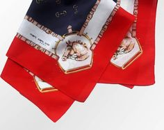 Your place to buy and sell all things handmade Saint Yves, Small Scarf, Handkerchiefs, Vintage Cotton, Equestrian, Paris, Tie, Tote Bag, Fashion