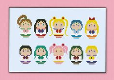 Sailor Moon parody - Cross stitch PDF patterb
