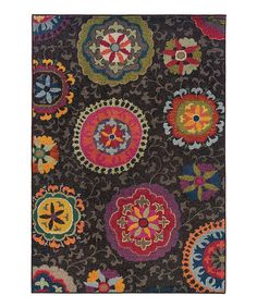 Another great find on #zulily! Charcoal Medallion Spectrum Rug #zulilyfinds