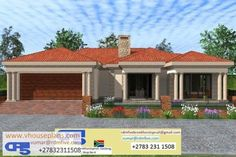 Overall Dimensions- x m Bedrooms- 2 Car Garage Area- Square meters Round House Plans, Tuscan House Plans, Free House Plans, Family House Plans, Best House Plans, Modern House Plans, Single Storey House Plans, House Plans South Africa, Flat Roof House