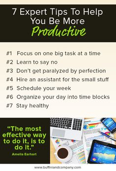 Here are some quick tips to help boost your productivity | Success | Real Estate Business | Productivity | Renovus.re