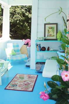 Leah's Land-Locked Beach House Porch — My Great Outdoors