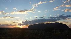 Setting sun behind Kata Tjuta, Uluru-Kata Tjuta National Park The Rock, Sunrise, National Parks, Clouds, Mountains, Landscape, World, Holiday, Travel
