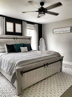 Modern Farmhouse Bedroom, Master Bedroom Makeover, Farmhouse Master Bedroom, Master Bedroom Design, Small Room Bedroom, Home Decor Bedroom, Modern Bedroom, Small Rooms, Farmhouse Decor