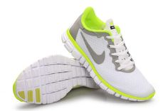 sports shoes 38866 1f0b1 Nike Free Run 3.0 V2 Men Shoes Gray White Fluorescent Green Online