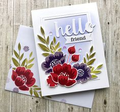 Gran's Garden Card Collection by justbehappy - at Splitcoaststampers