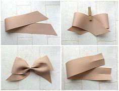 もっと!ふんわりリボンの作り方 Bow Tie Hair, Bow Hair Clips, Craft Stick Crafts, Diy And Crafts, Homemade Hair Accessories, Fabric Bows, Ribbon Crafts, Baby Bows, How To Make Bows