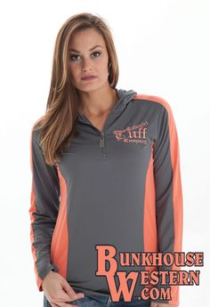 Cowgirl Tuff, Long Sleeve Tee Shirts, Hoods, Addiction, Coral, Athletic, My Style, Jackets, Closet