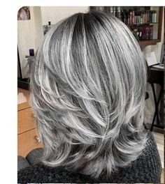 short grey hair over 70 silver hair colors and styles for mature women Medium Hair Styles, Curly Hair Styles, Silver Hair Styles, Grey Hair Styles For Women, Pelo Color Plata, Grey Hair Wig, Long Gray Hair, Grey Hair Over 50, Grey Blonde Hair