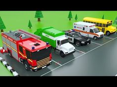 Learn Colors with Car Parking Street Vehicles Toys - Colors Videos for Children - YouTube