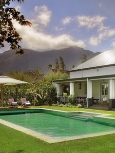 Escape to Franschhoek in luxury - La Cle des Montagnes Villas Plunge Pool, Luxury Hotels, Hotel Spa, Spas, Villas, Places To Travel, South Africa, Swimming Pools, Around The Worlds