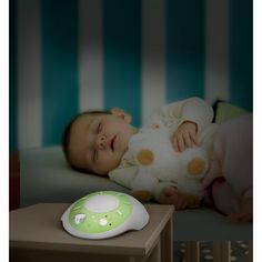 MyBaby by Homedics SoundSpa Sound Machine- Portable, White/Green Kids Sleep, Baby Sleep, White Noise Sound, Home D, Your Child, Bean Bag Chair, Toddler Bed, Parenting, Children